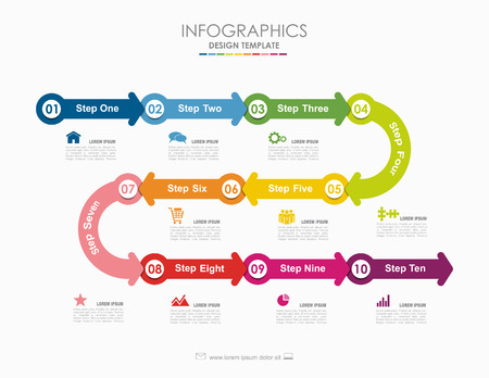 Infographic template. Vector illustration. Can be used for workflow layout, diagram, business step options, banner, web design. Zdjęcie Seryjne - 95188022