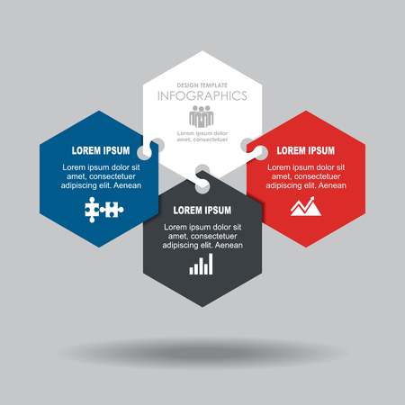 Infographic template. Vector illustration. Can be used for workflow layout, diagram, business step options, banner. Illusztráció