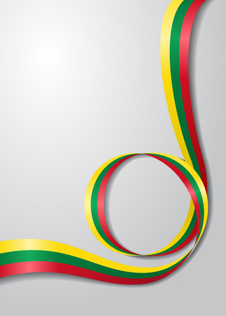 Lithuanian flag wavy background. Vector illustration. Vectores