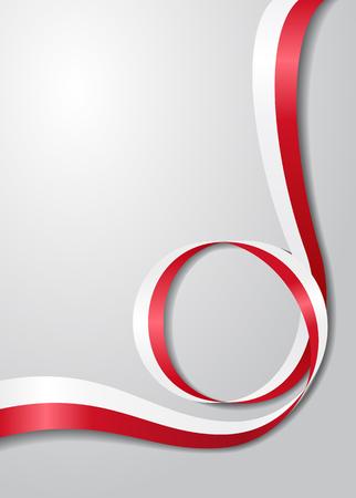 Polish flag wavy background. Vector illustration.