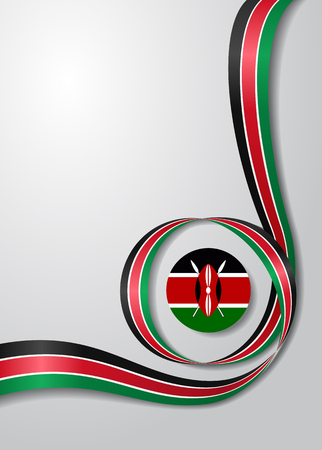 Kenyan flag wavy background. Vector illustration.
