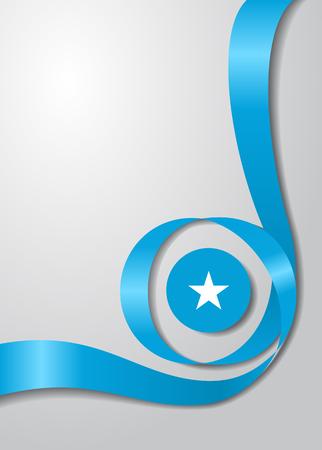 Somalian flag wavy abstract background Vector illustration. Illustration
