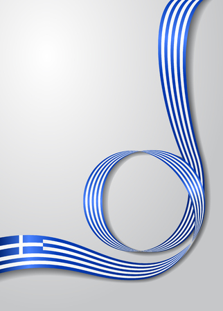 Greek flag wavy background. Vector illustration.