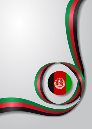 Afghanistan flag wavy abstract background Vector illustration.