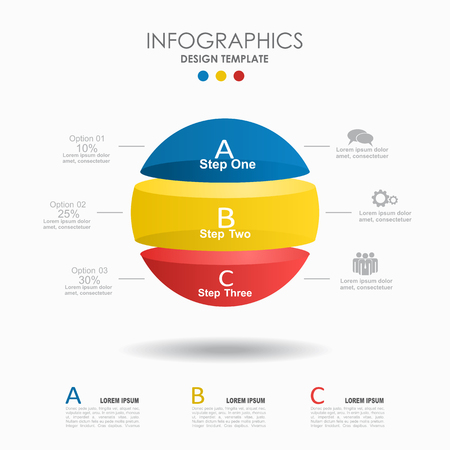 Infographic template. Vector illustration. Can be used for workflow layout, diagram, business step options, banner. Иллюстрация