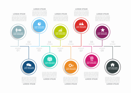 Infographic template. Vector illustration. Can be used for workflow layout, diagram, business step options, banner. Illustration