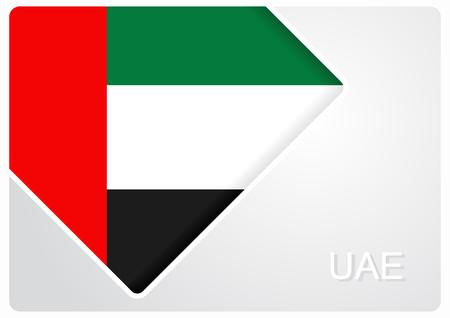 United Arab Emirates flag design background. Vector illustration.