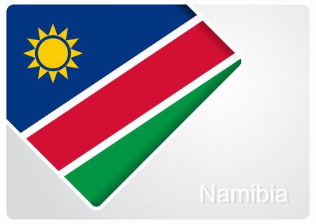 Namibian flag design background. Vector illustration.