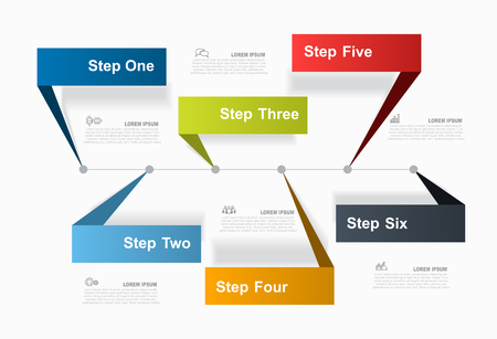 Infographic design template with place for your text. Vector illustration. Ilustração Vetorial