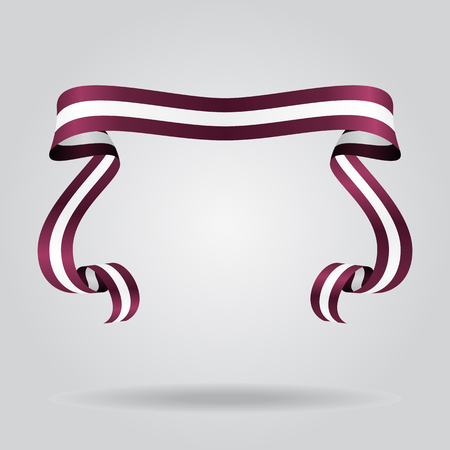 Latvian wavy flag abstract background. Vector illustration.  イラスト・ベクター素材