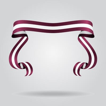 Lettische wellenförmige Flagge abstrakten Hintergrund. Vektor-Illustration. Vektorgrafik