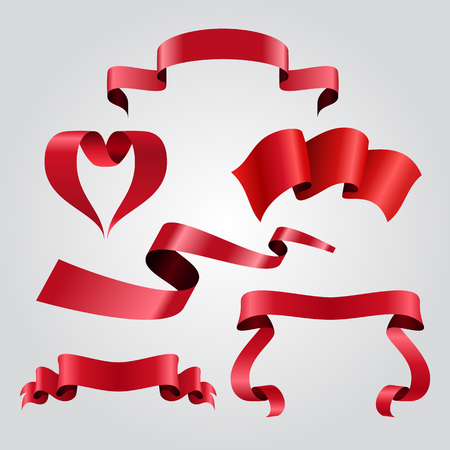 Ribbon banner shapes label collection. Vector illustration. Zdjęcie Seryjne