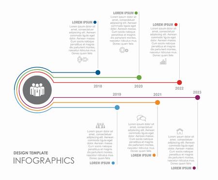 Plantilla de diseño infográfico con lugar para el texto. Ilustración vectorial