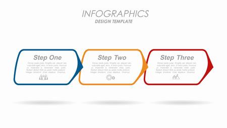 Modello di progettazione infografica con posto per il testo. Illustrazione vettoriale.
