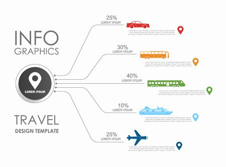 Infografik-Design-Vorlage mit Platz für Ihren Text. Vektor-Illustration. Vektorgrafik