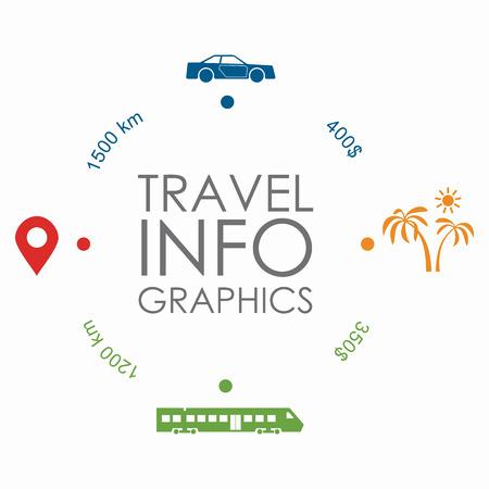 Infografik Designvorlage mit Platz für Ihren Text. Vektorillustration.
