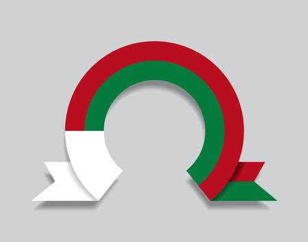 Madagascar flag rounded ribbon abstract background. Vector illustration. Ilustração
