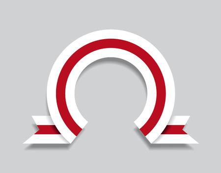 Belarusian flag rounded ribbon abstract background. Vector illustration. Ilustração