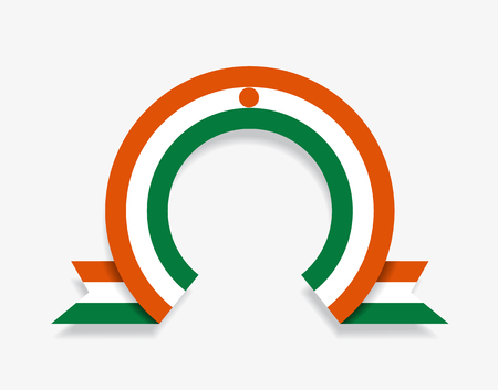 Niger flag rounded ribbon abstract background. Vector illustration.