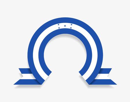 Honduras flag rounded abstract background. Vector illustration. Ilustração