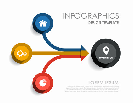 Infographic design template with place for your text. Vector illustration. Imagens - 124351488