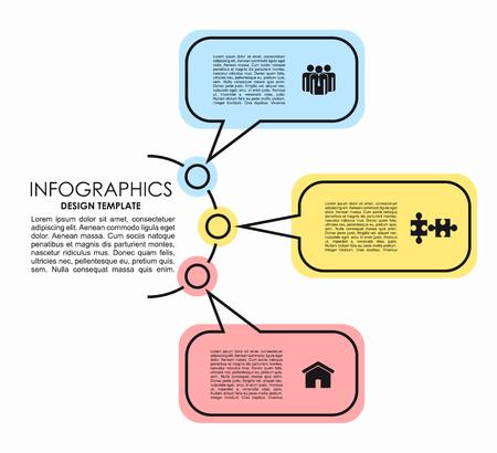 Plantilla de diseño infográfico con lugar para el texto. Ilustración vectorial Ilustración de vector
