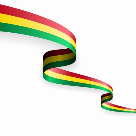 Bolivian flag wavy abstract background. Vector illustration. Ilustrace