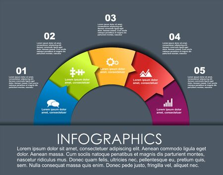 Infographic design template with place for your data. Vector illustration. Vektorgrafik