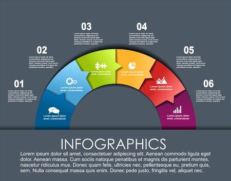 Infografik-Design-Vorlage mit Platz für Ihre Daten. Vektor-Illustration.