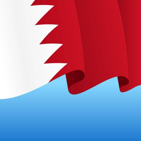 Bahrain flag wavy abstract background. Vector illustration.