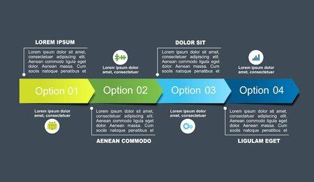 Modèle de conception infographique avec place pour vos données. Illustration vectorielle.
