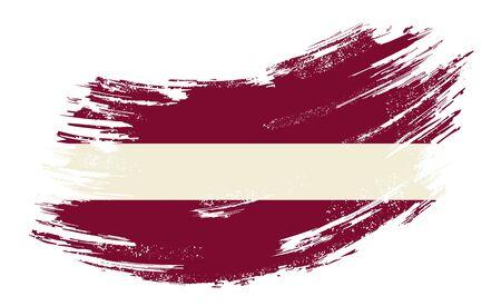 Latvian flag grunge brush background. Vector illustration.