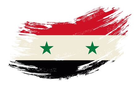 Syrian flag grunge brush background. Vector illustration.