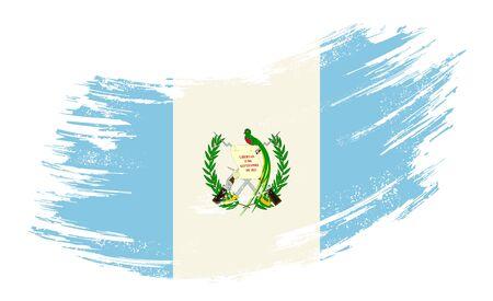 Guatemalan flag grunge brush background. Vector illustration.
