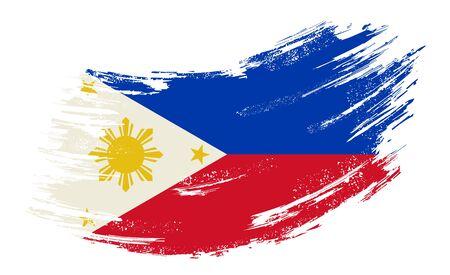 Philippines flag grunge brush background. Vector illustration. Illusztráció