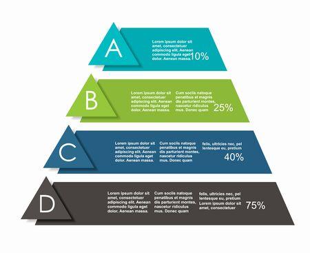 Infografik-Design-Vorlage mit Platz für Ihre Daten. Vektor-Illustration. Vektorgrafik