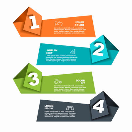 Infographic design template with place for your data. Vector illustration. Vecteurs