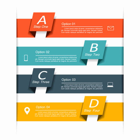 Infographic design template with place for your data. Vector illustration. Ilustracje wektorowe