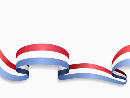 Luxembourg flag wavy abstract background. Vector illustration.