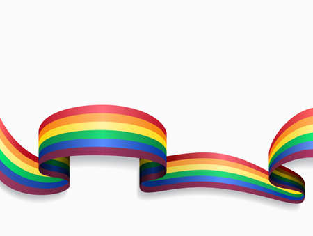 LGBT flag wavy abstract background. Vector illustration.