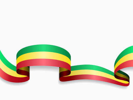 Malian flag wavy abstract background. Vector illustration.