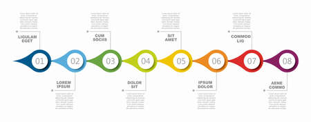 Infographic design template with place for your data. Vector illustration. Vetores