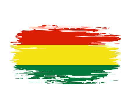 Bolivian flag brush grunge background. Vector illustration. Vector Illustration