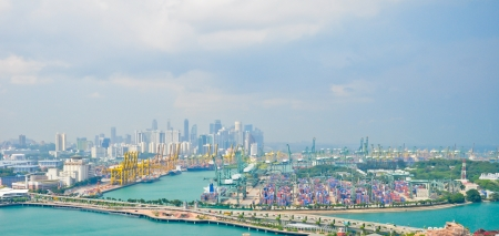 Deep-water port ,Singapore, April 24,2011 photo