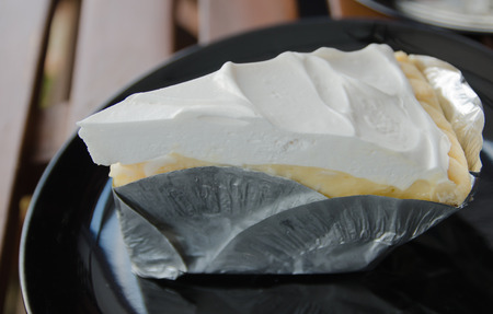 a peice of coconut pie Stock Photo