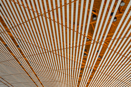 Ceiling structure in airport, beijing, china