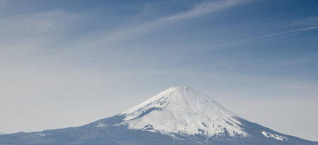 rural skyline: Mount Fuji taken from Owakudani Stock Photo