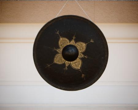 Thai temple gong  photo