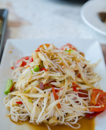 Somtum : Delicious and tradition Thai foods photo