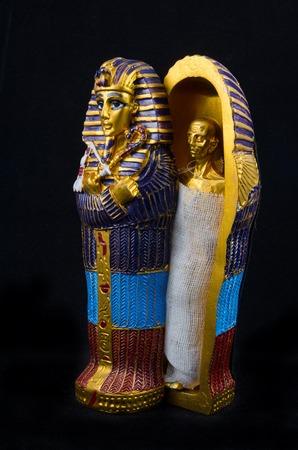 Egyptian golden pharaohs mask - travel to Egypt concept , Egyptian Casket photo